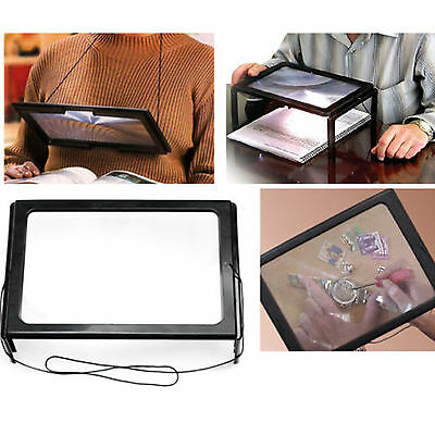 Giant Large Hands Free Magnifying Glass With Light Led Magnifier For Reading Aid • 5.75£