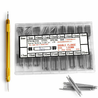 $ CDN12.59 • Buy Watchmaker Watch Band Spring Bars Strap Link Pins +Remover Steel Repair Kit Tool