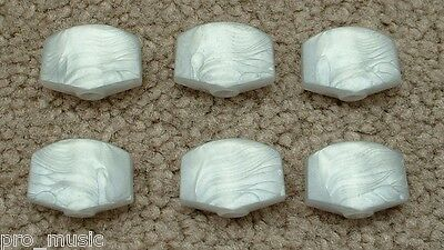 $ CDN19.49 • Buy Guitar WHITE PEARL TUNER KNOBS Tuning Machine Buttons 6 Gotoh Grover LARGE *NEW*