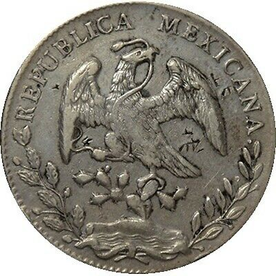 AU97.75 • Buy 1893 Mexico 8 Reales Silver Coin