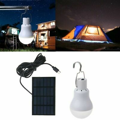 £12.84 • Buy 15W Portable Solar Panel Power LED Bulb Lamp Outdoor Camp Tent Fishing Lights
