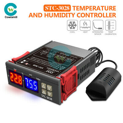 AU18.88 • Buy STC-3028 AC110-220V Dual Digital Temperature Humidity Controller Thermostat