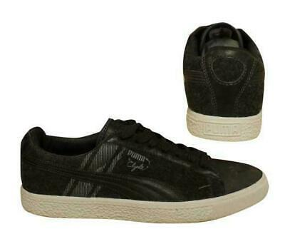 Puma Clyde Survival Lace Up Dark Grey Mens Leather Trainers 352130 01 B73A • 29.99£