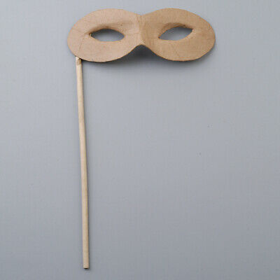 Paper Mache Masquerade Mask On A Stick To Decorate For Crafts • 3.52£