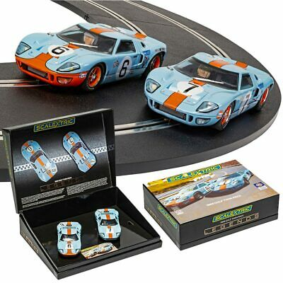 SCALEXTRIC Slot Car C4041A Ford GT40 1969 - Gulf Twin Pack • 74.87£
