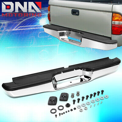 New Black Steel Rear Step Bumper Assembly For Toyota Tacoma 1995-2004 TO1102214