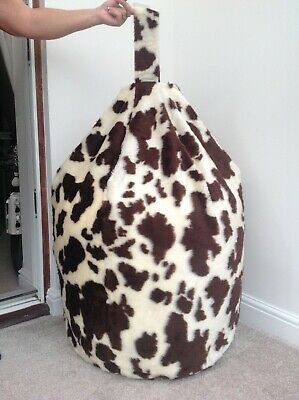Cover Only Bean Bag Adult Brown Cow 6 Cubic Ft Animal Print New Made In Uk 🇬🇧  • 40.99£