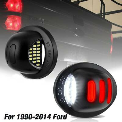 $15.79 • Buy 1990-2014 Ford F150 Red Neon Tube LED License Plate Tag Light Pair