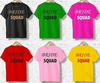 £8.99 • Buy Personalised Names Printed Bride Squad, Hen Party, Hen Do, Night T-shirt Top