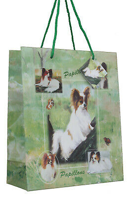 £5.99 • Buy Papillon Breed Of Dog Quality Large Gift Bag & Gift Tag Present Occasion
