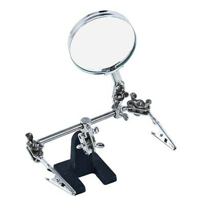 Helping Hand Magnifier Magnifying Glass Clamp Soldering Stand Craft Make Hold Ok • 6.99£