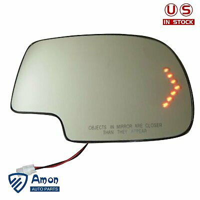 $18.86 • Buy Heated LED Turn Signal Passenger Side Mirror Glass For 03-07 Chevy GMC Cadillac