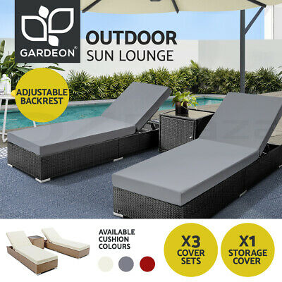 AU569.90 • Buy Gardeon Sun Lounge Outdoor Wicker Lounger Day Bed Cushion Patio Furniture Pool