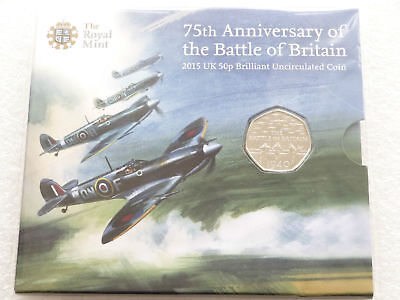 2015 Royal Mint Battle Of Britain 50p Fifty Pence Coin Pack Sealed Uncirculated • 69.95£