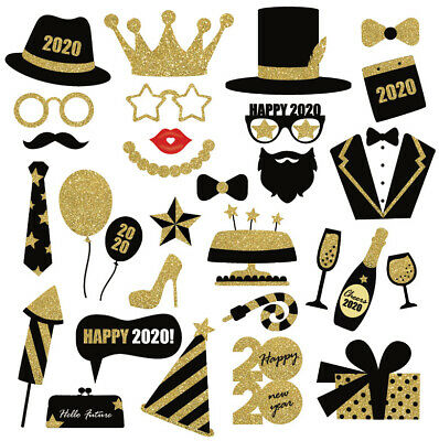 £6.59 • Buy 30PCS 2020 Happy New Year's Eve Party Photo Booth Props Supplies Decoration