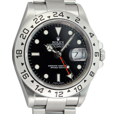 $ CDN13815.90 • Buy ROLEX - Rehaut Mens Stainless Steel Explorer II Black Dial 16570 - SANT BLANC