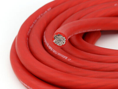 AU99.99 • Buy KnuKonceptz Kolossus Flex 1/0 Gauge Red OFC Power Wire Tinned Copper Cable 5M