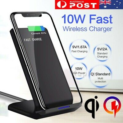 AU12.75 • Buy Qi Wireless Charger Fast Charging Dock For IPhone X XS XR 8 Plus Samsung S10+ S9