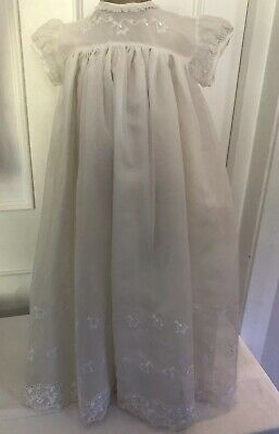 Vintage Ivory Christening Gown Age 3-6 Months • 15£