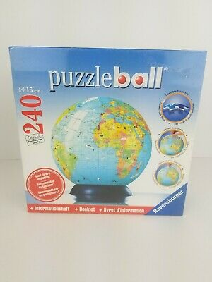$29.99 • Buy Ravensburger Puzzle Ball 3D 540 Pieces The World Globe With Stand NEW