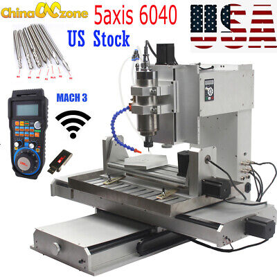 $ CDN4353.38 • Buy HY-6040 5 Axis 2200W CNC Aluninum Router Machine For Drilling Milling Engraver