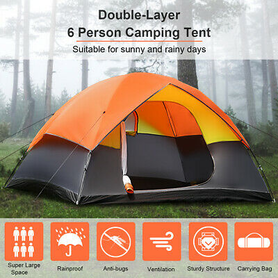 AU97.99 • Buy Family Camping Tent  6 Person Dome Canvas Swag Hiking Beach Tents Waterproof