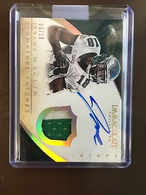 $59.99 • Buy 2014 Immaculate Jeremy Maclin Dual Color Patch On Card Gold Parallel Auto #/10