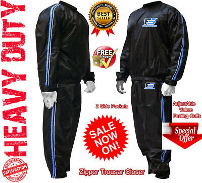 AU32.49 • Buy Sauna Sweat TRACK Suit For WEIGHT LOSS Men Women MMA BOXING Body SHAPER Workout