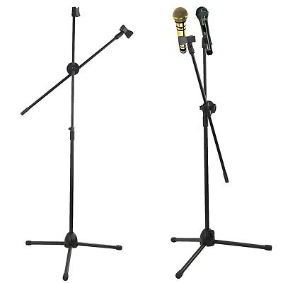 £10.95 • Buy Professional Boom Microphone Mic Stand Holder Adjustable With Free Clips New