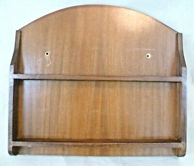 Vintage Treen - 33x30cm Stained Wooden Small Wall Plate Display Rack / Stand • 18.25£