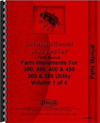 AU303.10 • Buy International Farmall 300 350 400 450 Tractor Implements Parts Manual Catalog