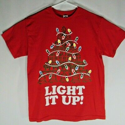 £10.60 • Buy Christmas Light It Up T-Shirt Size L Large Ugly Sweater  Ugly T-Shirt Red