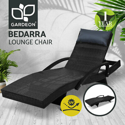 AU209.95 • Buy Gardeon Outdoor Sun Lounge Setting Rattan Wicker Lounger Garden Patio Furniture
