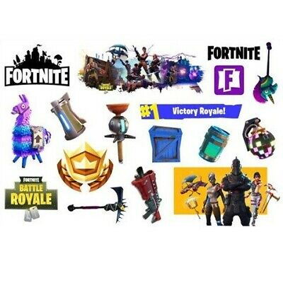 New FORTNITE  Temporary Tattoo Sheets Children Kids Birthday Party Bag Filler • 2.49£