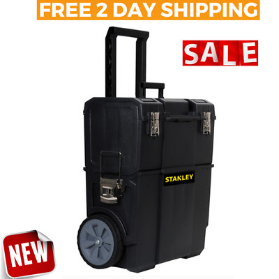 View Details MOBILE TOOL BOX Storage Organizer Rolling Chest Cart Wheels Portable Toolbox  • 43.78$