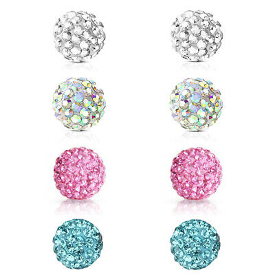 £4.10 • Buy Ferido Crystal Paved Replacement Balls Labret Cartilage Tragus Belly Tongue Bar