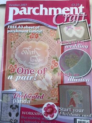 Parchment Craft Magazine October 2007 Christmas Cards, Panda, Wedding, Fish • 2.50£