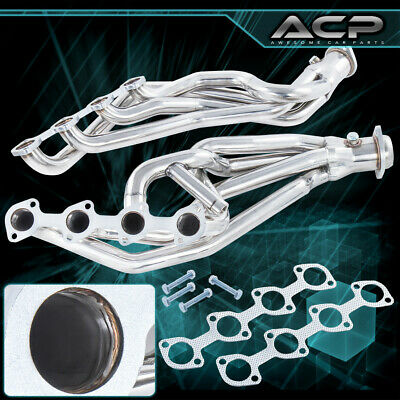 $165.99 • Buy S/S Long Tube Exhaust Manifold Header For 96 97 98 99 00 01 02 03 04 Mustang Gt