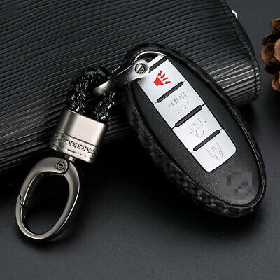 $8.23 • Buy 1x Carbon Fiber Styling Car Key Case For Nissan Infiniti Accessories US Shipping