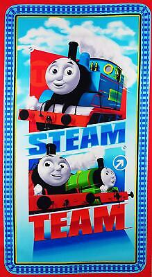 Thomas The Tank Engine Steam Team Express Panel 100% Cotton Quilting Fabric • 15.99£