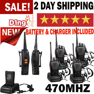$ CDN88.13 • Buy Long Range Walkie Talkie 4 Set 5 Mile 2 Way Radio Charge Headset Waterproof UHF