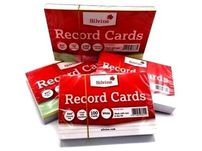 £2.59 • Buy Revision-Flash-Index Record Cards - White-Ruled-Coloured FREE P&P UK