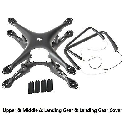 AU116.99 • Buy Body Top Bottom Shell Landing Gear And Cover For DJI Phantom 4 Pro OBSIDIAN