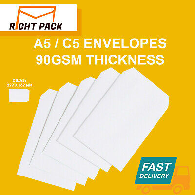£18.45 • Buy Quality C5/a5 Plain 90gsm White Envelopes Self Seal Strong Paper 229mm X 162mm