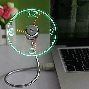 AU26.10 • Buy ONXE USB LED Clock Fan With Real Time Display Function,USB Clock Fans
