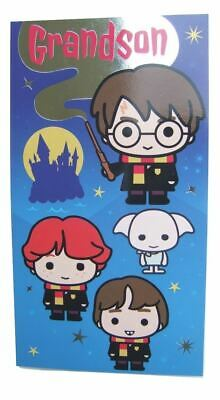 £3.49 • Buy Harry Potter Cartoon Style Birthday Card For A GRANDSON By Danilo - HP020