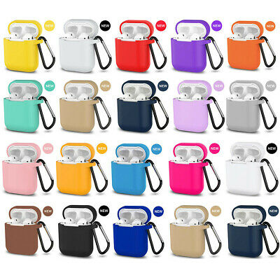 $ CDN2.78 • Buy AirPods Silicone Case Protective Cover +KeyChain For Apple AirPod Charging Case