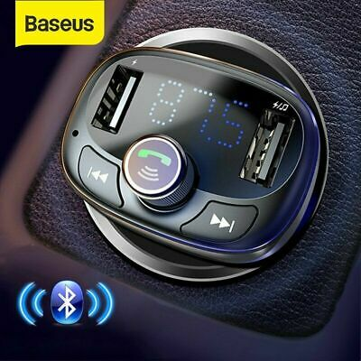 £13.79 • Buy Baseus Bluetooth Wireless Car FM Transmitter MP3 Player USB Charger Adapter Kit