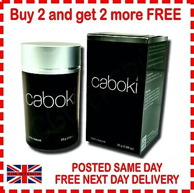 25g Caboki  Hair Fibres Buy 2 Get 2 More For FREE That Works Out At £4.99 Each • 9.99£