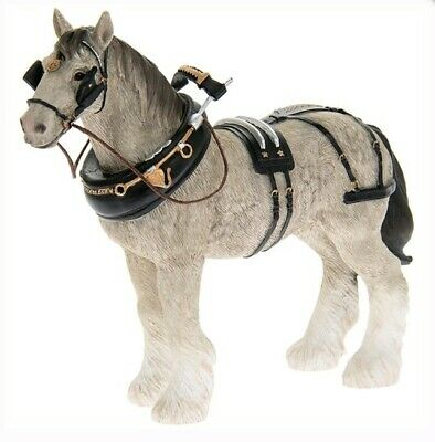 Country Life By Leonardo GREY SHIRE HORSE Figurine New Gift LP44656 • 14.95£